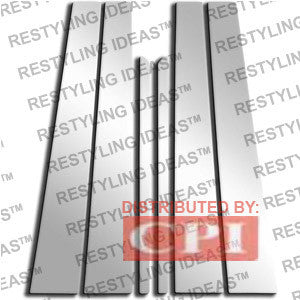 Mercedes Benz 1996-2002 Mercedes Benz E-Class (W210) 6Pcs Chrome Plated Stainless Steel Pillar Post Performance