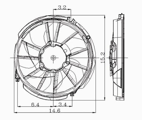 ford 96-07 ford taurus/mercury sable radiator cooling fan assembly (1) –  carro pacific