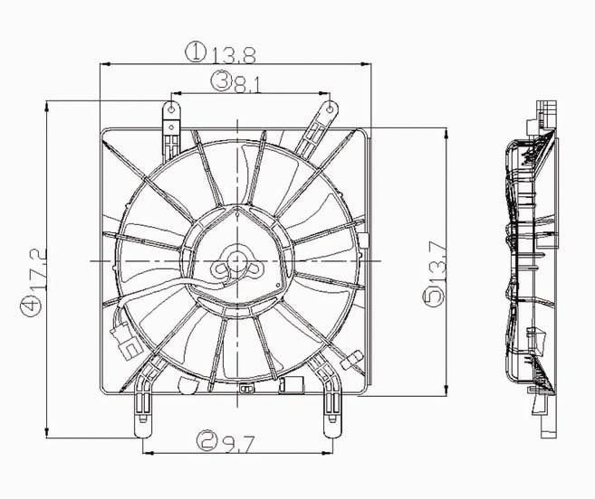 For Acura RSX Cooling Fan 02 03 04 05 06