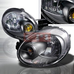DODGE 2003-2005 DODGE NEON BLACK HEADLIGHTS/ HEAD LAMPS-EURO STYLE PERFORMANCE 2003,2004,2005