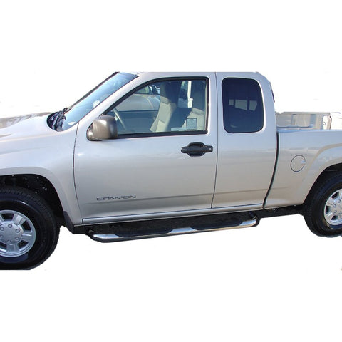 Nissan Frontier 06-10 Nissan Frontier Ext Cab Sidebar 3Inch Stainless Extended Cab Nerf Bars & Tube Side Step Bars Stainless