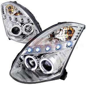 Infiniti 03-05 G35 Chrome Housing Projector Headlight Oe Hid Compatible D2 Xenon Bulb Not Included Performance 1 Set Rh & Lh 2003,2004,2005