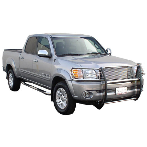 Dodge Ram 1500 Pickup 94-01 Dodge 1500 One Piece Grill/Brush Guard Black Grille Guards & Bull Bars Stainless