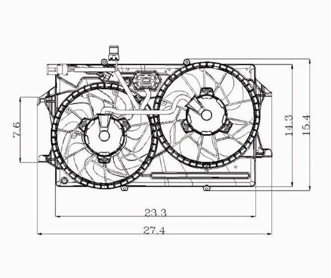 Ford 00 02 Ford Focus 2 0l W Ac Radiator Condenser Cooling Fan Asse Carro Pacific