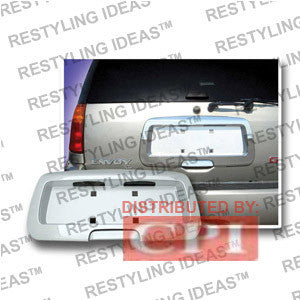Isuzu 2003-2008 Ascender Chrome Rear License Plate Frame - Silver Insert Performance 2003,2004,2005,2006,2007,2008