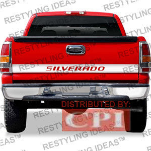 Chevrolet 1999-2009 Chevrolet Silverado Fleetside Silverado 63.5Inch Chrome Plated Stainless Steel Tailgate Accent