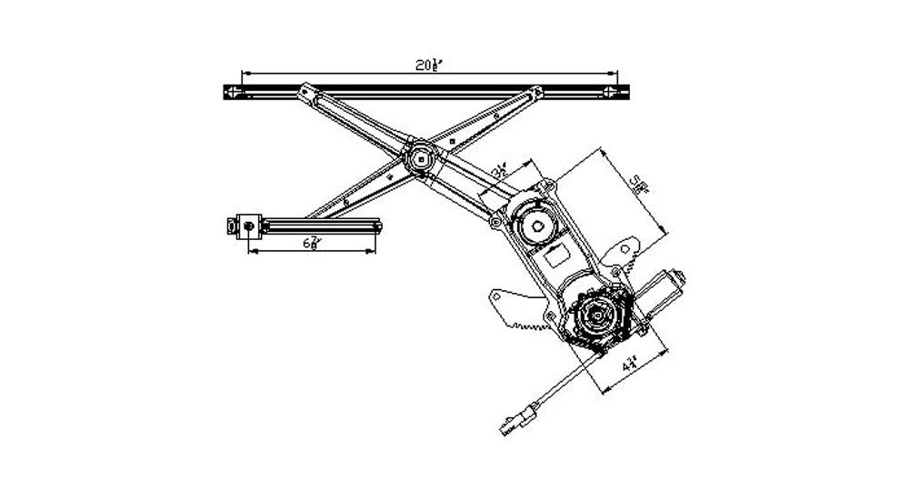 Dodge 97 04 Dodge Dakota Std Club Cab Power Window Regulator Assembly Carro Pacific