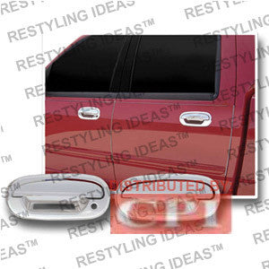 Lincoln 1997-2002 Navigator Chrome Door Handle Cover 4D W/Keypad No Passenger Side Keyhole Performance