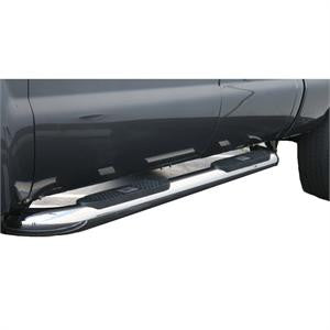 TOYOTA TUNDRA 07-10 Toyota Tundra Crew Max BIG STEP-4inch STAINLESS CREW CAB Nerf Bars & Tube Side Step Bars    1 SET RH & LH