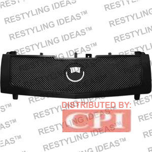 Cadillac 2002-2006 Cadillac Escalade Black Frame with  Mesh (silver Metal) Abs Grille Performance