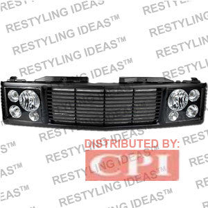Gmc 1988-1998 Gmc C/K Pick Up Black Range Rover W/ Black Headlamp Abs Grille Performance