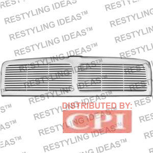 Dodge 1994-2001 Dodge Ram Chrome Horizontal Bar W/ Middle Bar Abs Grille Performance