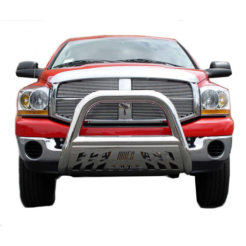 DODGE DAKOTA 05-10 Dodge Dakota BULL BAR 3inch WITH STAINLESS SKID  Guards & Bull Bars Stainless