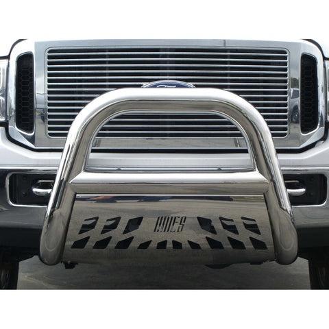CHEVROLET SILVERADO 3500 HD 01-06 Chev Silverado 3500 HD BIG HORN BAR 4inch W/STAINLESS SKID  Guards & Bull Bars Stainless