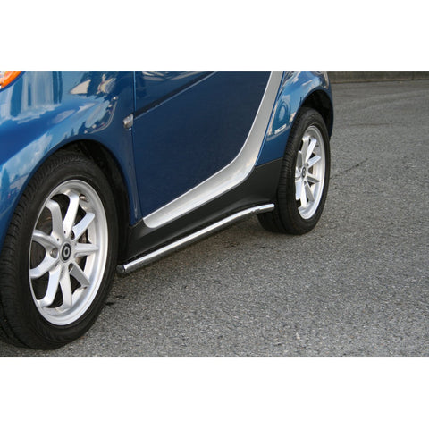SMART 451 08-09 Smart car 451 SIDERAIL STAINLESS STEEL 1.5inch OD Nerf Bars & Tube Side Step Bars