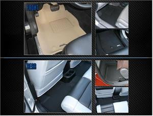 Fiat 2012 500 Rear back Row Seating 2Pc Beige 3D  Floor Mats Liners