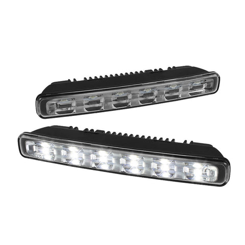 1W LED DRL Day Time Running Lights 6pcs - Chrome