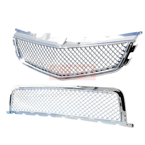 CADILLAC 09-12 CADILLAC CTS COMBO UPPER AND LOWER MESH GRILL CHROME    2009,2010, 2011,2012
