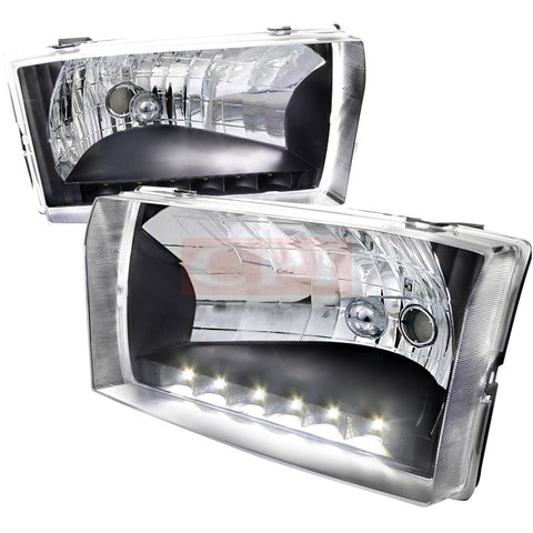 Ford  99-04 Ford  F250  Led Headlight Black Housing