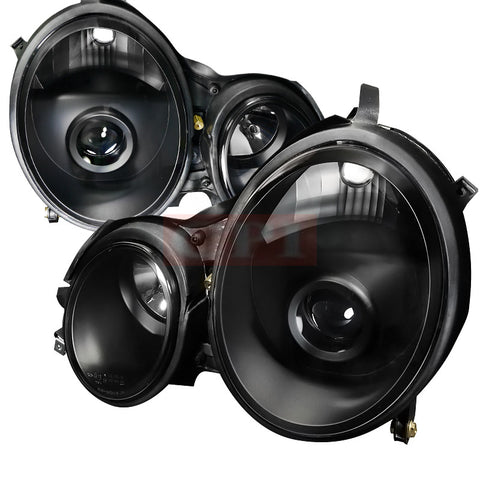 Mercedes  00-02 Mercedes  W210 E Class Projector Headlight Black Housing