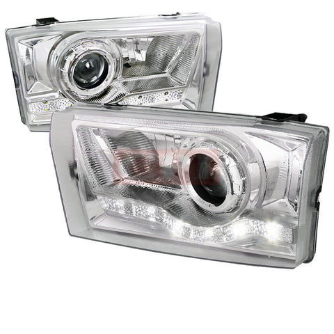 Ford  99-04 Ford  F250  Led Projector Headlight Chrome Housing
