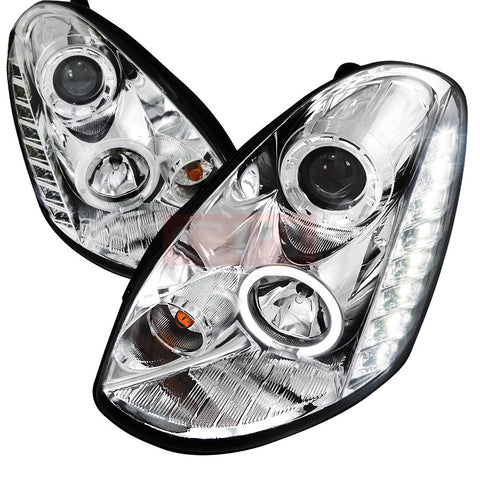 Infiniti  05-06 Infiniti  G35  Projector Headlight Chrome Housing Sedan Model