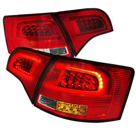AUDI 05-08 AUDI A4  LED TAILLIGHTS RED CLEAR    PERFORMANCE 1 SET RH & LH  2005,2006,2007,2008