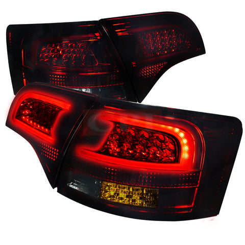 AUDI 05-08 AUDI A4  LED TAILLIGHTS RED SMOKE    PERFORMANCE 1 SET RH & LH  2005,2006,2007,2008
