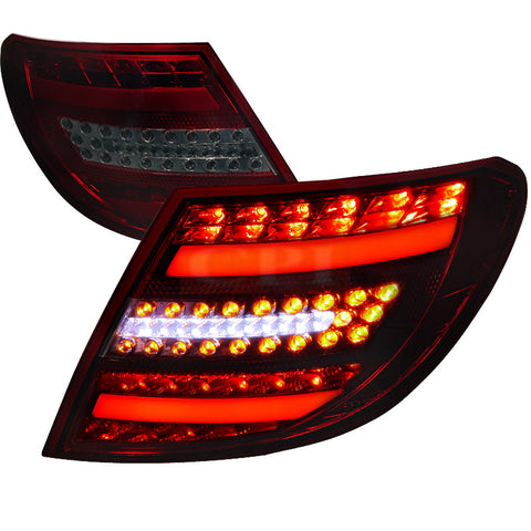 Mercedes Benz  07-11 Mercedes Benz  C Class  Led Tail Lights Red Smoke