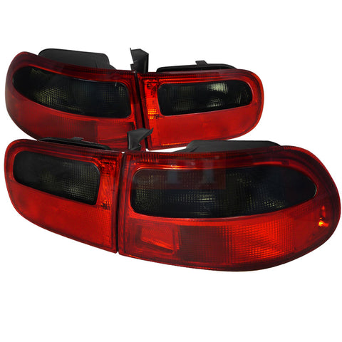 Honda 92-95 Honda Civic  Tail Light Red Clear 3Dr Model