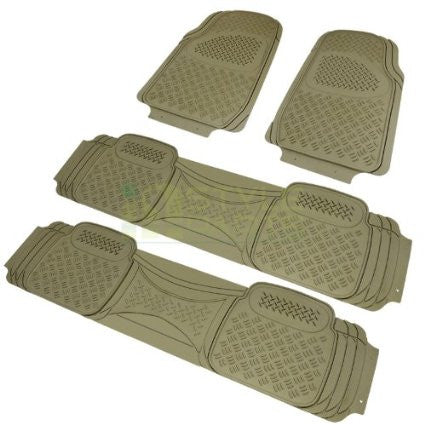 ALL UNIVERSAL ALL PVC FLOOR MAT 4 PIECES SET BEIGE