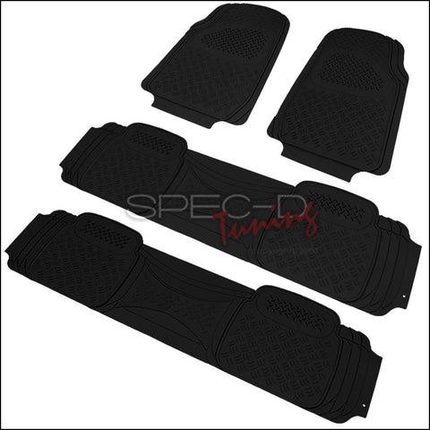 ALL UNIVERSAL ALL PVC FLOOR MAT 4 PIECES SET BLACK