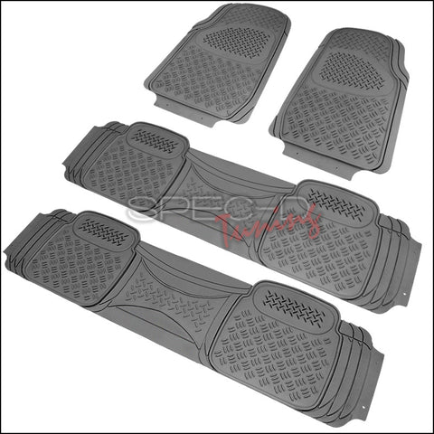 ALL UNIVERSAL ALL PVC FLOOR MAT 4 PIECES SET GREY