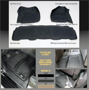 Gmc Sierra 2007-10 Sierra Crew Cab    Interior Products Floor Mats/  Liners Rear - Black Black Products Performance  2007,2008,2009,2010
