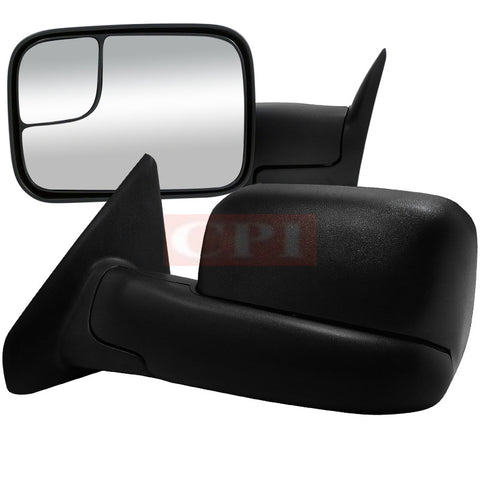 Dodge  02-08 Dodge  Ram  Towing Mirrors Manual