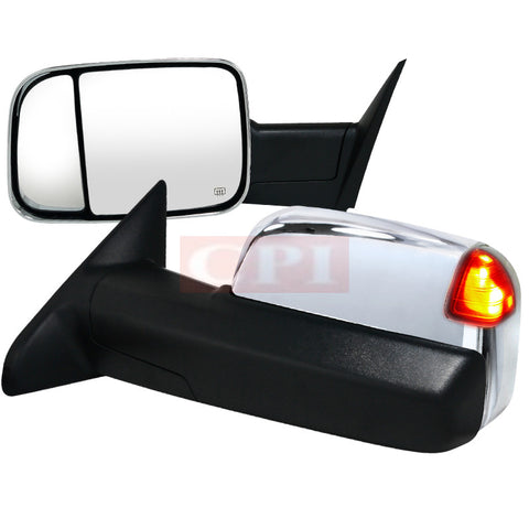 Dodge  10-12 Dodge  Ram  Heated Towing Mirrors Power Chrome With Memory