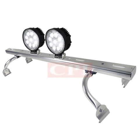 "All Universal All All 44"" To 60 "" Adjustable Light Roof Rack+ 9 Led Round Work Light X 2"