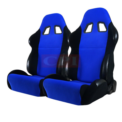 Bride Style Seats Blue And Black - Pair