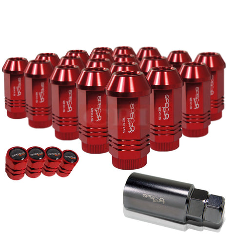 All All All Universal Spec-D Lug Nut Set: 12X1.5 21 Pieces Set Red With Key