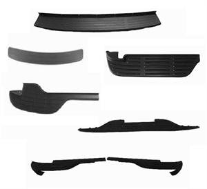 99-06 & 00-06 Silverado/Sierra <All Models> & Suburban/Tahoe/Yokon Step Bp Lower/Center Pad Black