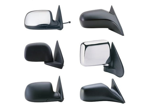 ISUZU 94-95 PICKUP MIRROR LH BLACK MANUAL (=94-97 RODEO/PASSPORT)