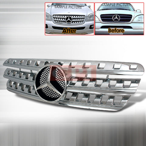 Mercedes 1998-2005 Mercedes Benz W163 M-Class Grille Amg Look Performance-x