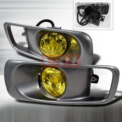 HONDA 1999-2000 CIVIC FOG LIGHTS/ LAMPS (YELLOW) DEPO   1 SET RH & LH 1999,2000