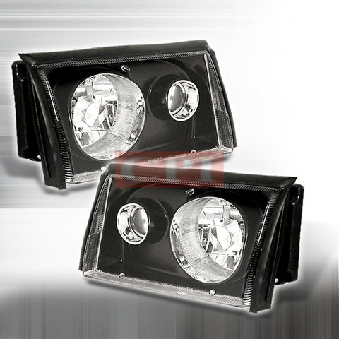 FORD 1987-1993 FORD MUSTANG COBRA PROJECTOR HEAD LAMPS/ HEADLIGHTS - BC 1 SET RH&LH   1987,1988,1989,1990,1991,1992,1993