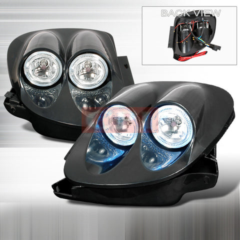 MAZDA 1993-1997 MAZDA RX-7 HALO HEADLIGHTS/ HEAD LAMPS-EURO STYLE   1993,1994,1995,1996,1997