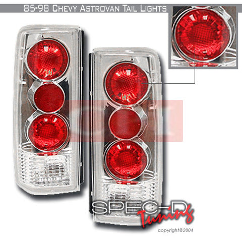 CHEVROLET 1985-1998 CHEVY ASTRO VAN TAIL LIGHTS /LAMPS EURO 1 SET RH&LH