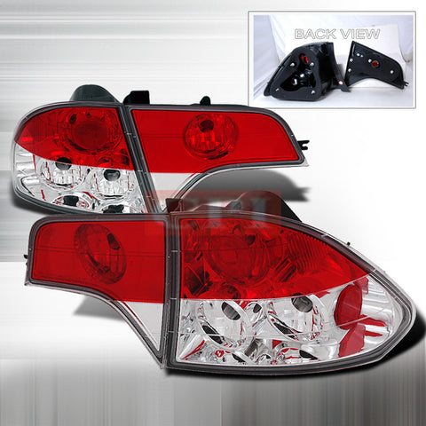 Honda 2006-2007 Honda Civic 4Dr Tail Lights /Lamps 4Pc Euro 1 Set Rh&Lh Performance 2006,2007-k