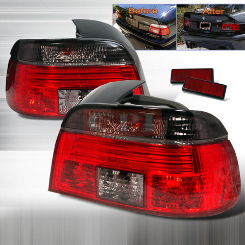BMW 1999-2000 BMW E39 4DR TAIL LIGHTS /LAMPS -SMOKE RED 1 SET RH&LH PERFORMANCE 1999,2000,2001,2002,2003