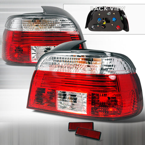 BMW 1999-2003 BMW E39 4DR TAIL LIGHTS /LAMPS -RED CLEAR 1 SET RH&LH PERFORMANCE 1999,2000,2001,2002,2003