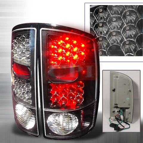 Dodge 2002-2003 Dodge Ram Pick Up Led Tail Lights /Lamps - Ks-k
